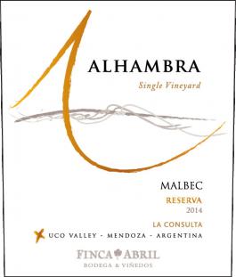 Alhambra Malbec Reserva Valle de Uco 2016