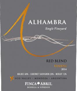 Alhambra Red Blend Reserva Valle de Uco 2016