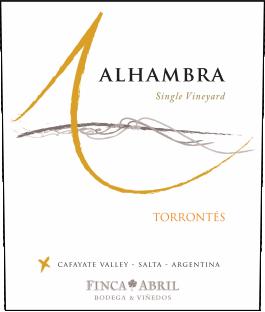 Alhambra Torrontés Cafayate Valley 2016