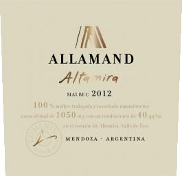 Allamand Altamira Luján de Cuyo Malbec