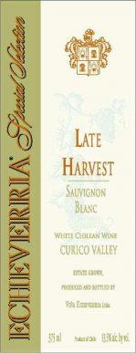 Echeverria Late Harvest Sauvignon Blanc HALF BOTTLE