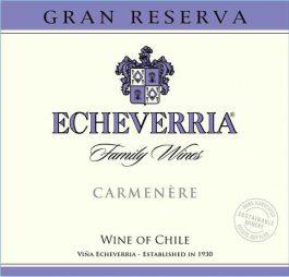 Echeverria Carmenere Gran Reserva