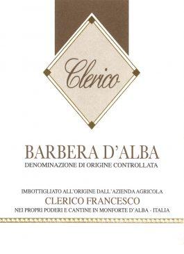 Francesco Clerico Barbera d'Alba DOC 2015