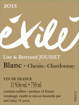 Domaine Jousset Éxilé Blanc VDF 2017