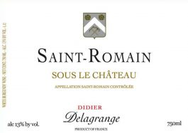 Domaine Delagrange Saint Romain Blanc