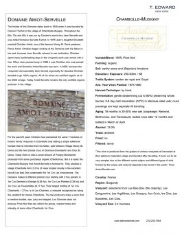 Domaine Amiot-Servelle Chambolle-Musigny