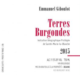 Giboulot IGP Terres Bourgondes Rouge