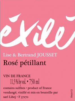 Domaine Jousset Éxilé Rosé Pét-Nat