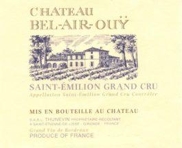 Château Bel Air Ouy Saint Emilion Grand Cru 2010