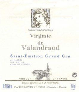 Virginie de Valandraud St. Emilion Grand Cru 2014