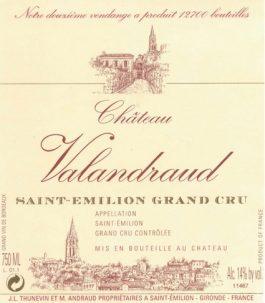 Château Valandraud St. Emilion Grand Cru 2011