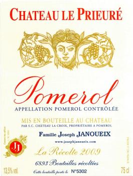 Château Le Prieuré Pomerol 2009