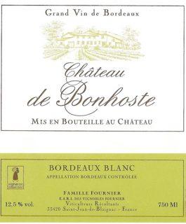 Château de Bonhoste Bordeaux Superieur Blanc