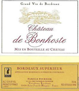 Château de Bonhoste Bordeux Superieur Rouge 2014