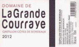 Domaine de la Grande Courraye Côtes de Bordeaux Castillon 2012