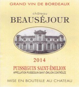Château Beauséjour Cuvée Speciale Puisseguin-St-Émilion 2014