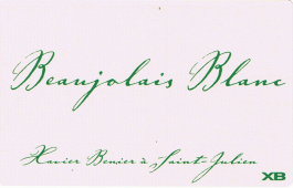 Xavier Benier Beaujolais Blanc 2016