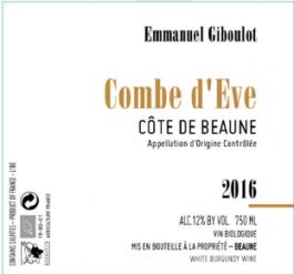 Giboulot Combe d'Eve