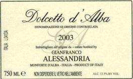 Gianfranco Alessandria Dolcetto d'Alba DOC