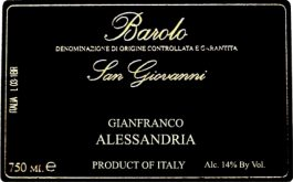 Gianfranco Alessandria Barolo