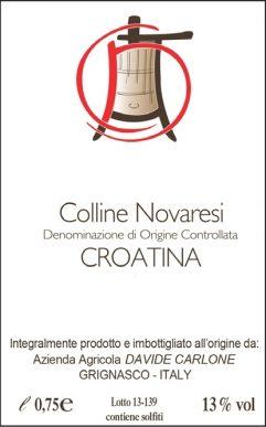 Davide Carlone Colline Novaresi DOC Croatina