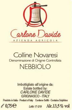 Davide Carlone Colline Novaresi DOC Nebbiolo