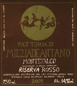 Milziade Antano Montefalco Rosso Riserva DOC