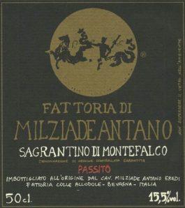 Milziade Antano Sagrantino di Montefalco DOCG 2011