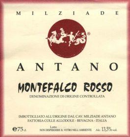 Milziade Antano Montefalco Rosso White Label DOC