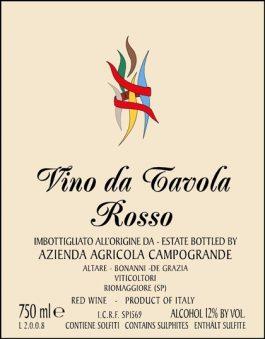 Campogrande Cinqueterre Rosso 2016