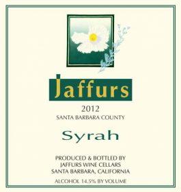 Jaffurs Syrah Santa Barbara 2012