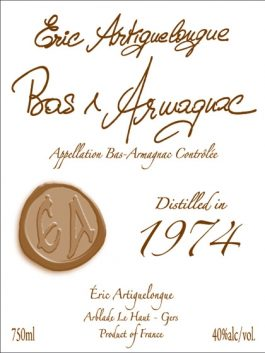 Artiguelongue Armagnac 1974