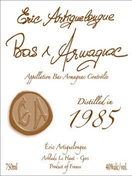 Artiguelongue Armagnac1985