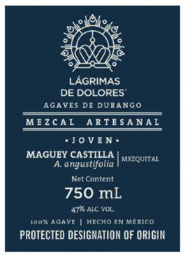 Lágrimas de Dolores Mezcal Castilla Joven