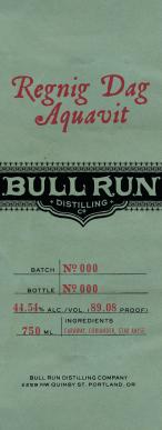 Bull Run Regnig Dag Aquavit