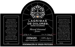 Lágrimas de Dolores Cenizo Mezcal Artesenal Joven