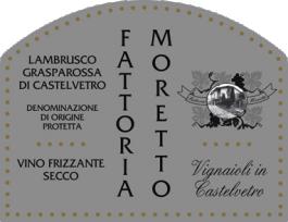 Fattoria Moretto Lambrusco Grasparossa di Castelvetro Secco NV