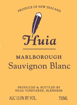 Huia Sauvignon Blanc Marlborough 2016