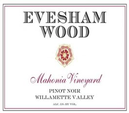 Evesham Wood Pinot Noir Mahonia Vineyard Willamette Valley 2011