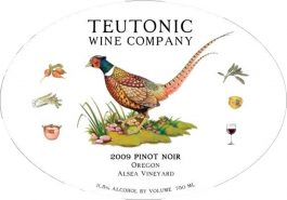 Teutonic Pinot Noir Alsea Vineyard 2012