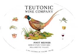 Teutonic Pinot Meunier Borgo Pass Vineyard 2014