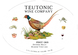 Teutonic Pinot Gris Maresh Vineyard Dundee Hills