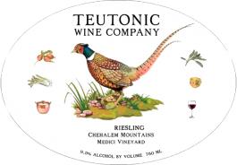 Teutonic Riesling Medici Vineyard Chehalem Mtns 2014