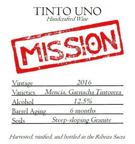 Mission Wines 'Uno' Ribeira Sacra