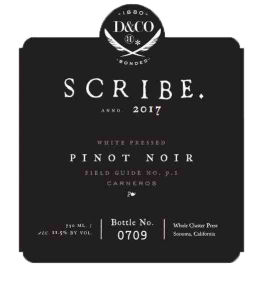 Scribe Winery White Pressed Pinot Noir Carneros