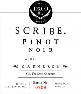 Scribe Winery Pinot Noir Carneros