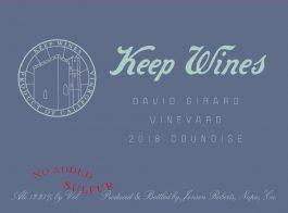 Keep Wines Counoise David Girard Vineyard