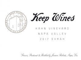 Keep Wines Syrah Kahn Vineyard