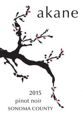 Akane Pinot Noir Sonoma County 2015
