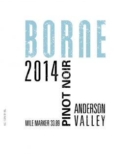 Borne Pinot Noir Anderson Valley 2014